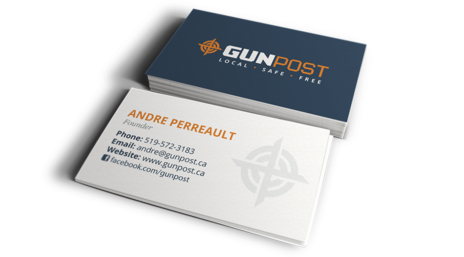 Gun Post Business Cards